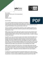 Letter to Irish Greyhound Board