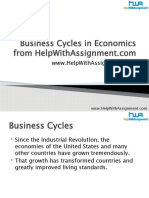 Business Cycles in Economics From Help With Assignment
