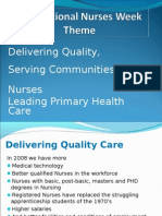 Delivering Quality Care