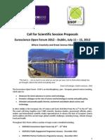 ESOF2012 Scientific Call