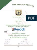 Reebok Project Work