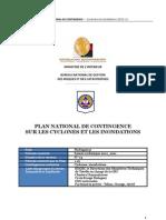Plan national de contingence sur les cyclones et les inondations (BNGRC/2010)