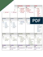 Math Deadlines Calendar