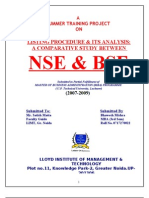 Comparative Study NSE - BSE