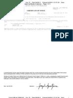 Doc 75 Order Granting Debtors Abondment of Trustee