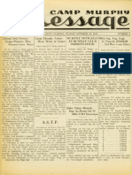 Camp Murphy Message, October 15, 1943