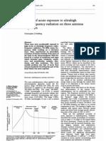 Effects of Acute Exposure to Ultrahigh RF Radiation on Three Antenna Engineers