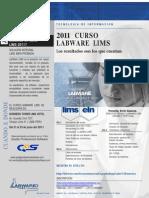 Brochure Invitacion Al Curso del software Lims