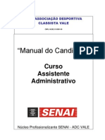Manual Do Aluno ADC SENAI EVT 2011 Curso Assist Admin Cajati