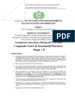 Corporate Laws and Secretarial Practices Stage-4
