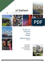 Scenario a City Budget Oakland