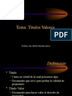 Power Point Titulos Valores