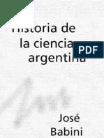 Babini, Jose - Historia de La Ciencia Argentina