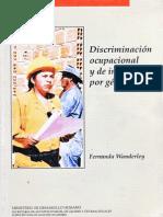 Discriminación ocupacional y de ingresos por género