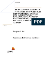 The Economic Impacts of the Oil and Natural Gas Industry on the U.S. Economy in 2009