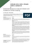 exposição combinada ruídos vibração e seus efeitos sobre a audição