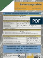 Tablice za dimenzioniranje armiranog betona (njem) Bemessungstafel Massivbau