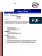Stakeholder Focus & Positioning (MoF)