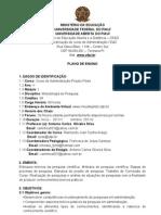 Plano de Ensino Metodologia 2011