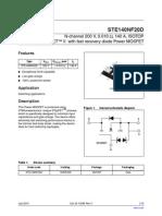 Ste140nf20d Datasheet