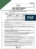 Cesgranrio 2006 Epe Tecnico de Nivel Superior Contabilidade Prova