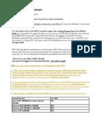 Direct Tax Code –