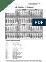 Bank Calendar 2010