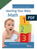 Teaching Baby Math