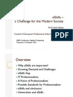 eSkills Challenge for Modern Society
