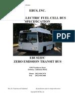 EbusPlug In Electric Fuel Cell Bus Specs
