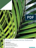 Lista de Precios Sector Industria Actualizado Siemens Abril 2011