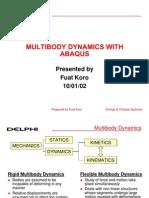 Multibody Dynamics With Abaqus