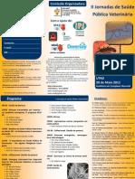 Flyer II Jornadas de Saúde Pública Veterinária