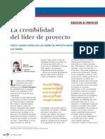 La Credibilidad Del Lider de Proyecto