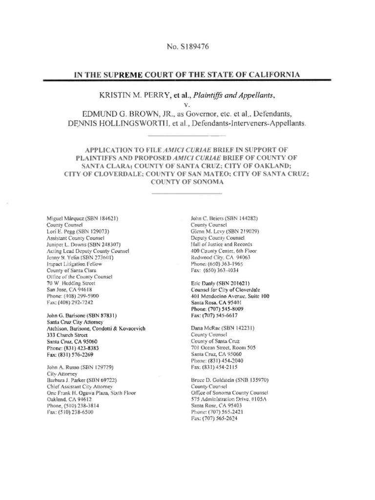 Amicus Brief of Santa Clara County, et al | Amicus Curiae | Standing ...