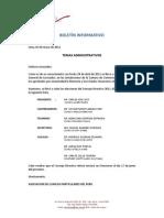 Boletín Informativo ACP - Abril 2011