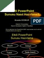 Etkili PowerPoint Sunusu Nasıl Hazırlanır - msöz