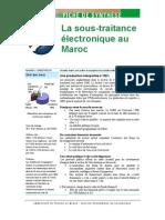 Etude Sous Traitance Electronique Maroc