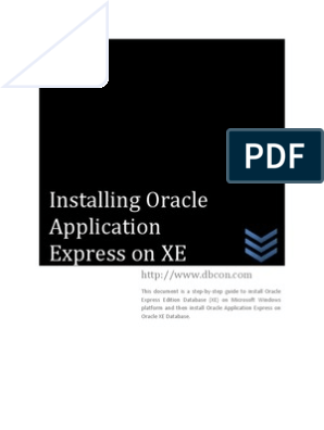 Step-by-step guide to install Oracle APEX on XE on Windows | Oracle