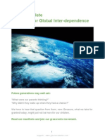 Manifesto for Global Inter Dependence