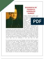 BIOGRAFIA DE FEDERICO GONZÁLEZ SUÁREZ