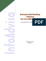 Mistakes in Enterprise Data Modeling