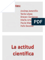 ACTITUD CIENTÍFICA