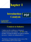 Chapter 1 Intro to Catalysis