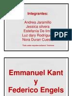 Emmanuel Kant y Federico Engels