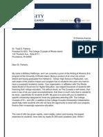 Brittany Pailthorpe's Letter of Affiliation