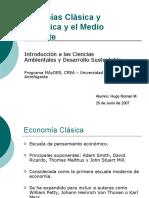 Economías Clásica y Neoclásica y Medio Ambiente