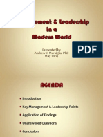 Mgt-Lead in Modern World PPT