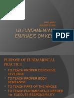 Univ. of Mary 3-4 LB Fundamentals