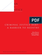 Criminal Justice Debt a Barrier to Reentry